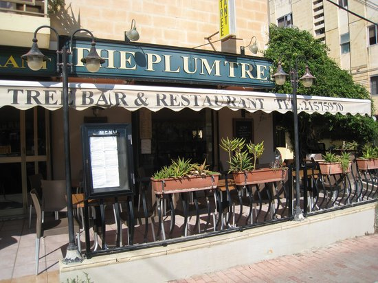 The Plum Tree Bar & Restaurant: From the entrance
