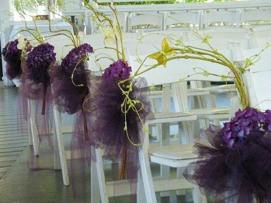 Queen Anne Victorian Mansion : Ceremony decor