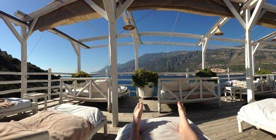 Peninsula Gardens Hotel: View from sunbeds