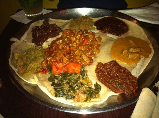 food at Queen of Sheba