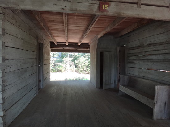 Grand Gulf Military Park: Dog run that seperates the two room cabin