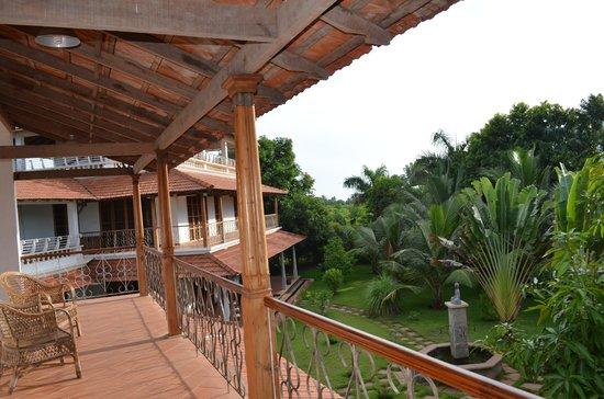 Maison Gascon : vue balcon