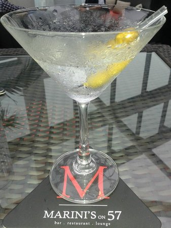 Marini's on 57: Very dry martini at Marini's - shaken, not stirred!
