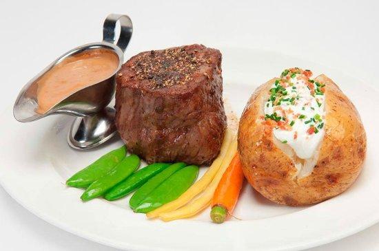 Donovan's Steak and Chop House: 10 oz. USDA Prime Filet Mignon with Baked Potato