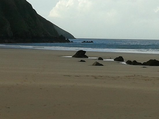 Woolacombe Beach: Farthest point of the beach