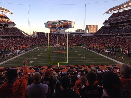 Paul Brown Stadium : our seats, 72.00 each