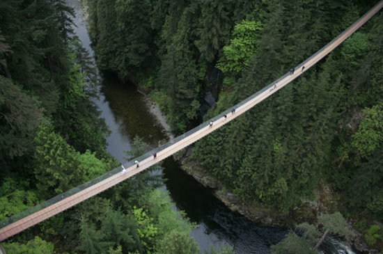 Норт-Ванкувер, Канада: Capilano Suspension Bridge attraction in North Vancouver