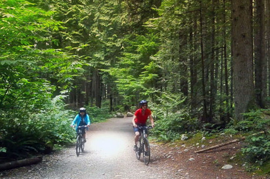 North Vancouver, Canada: Mountain bike in the Lower Seymour Conservation Area