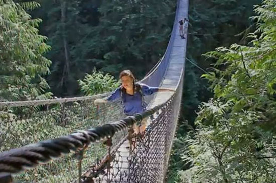 Lynn Canyon Suspension Bridge in Lynn Canyon Park in North Vancouver
