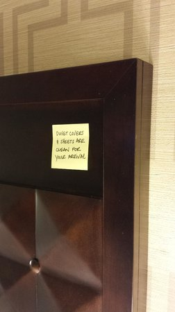 Hampton Inn & Suites Trophy Club - Fort Worth North : Note from housekeeping when I checked in