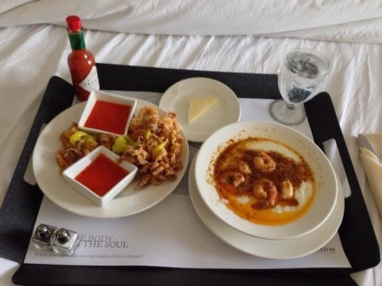 The Westin New Orleans Canal Place: room service food was awesome :)
