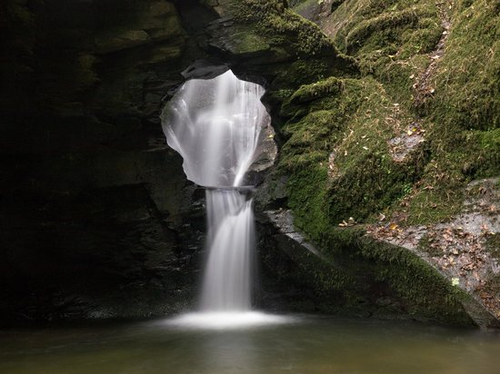 Wooldown Holiday Cottages: Waterfall at St. Nectan's Glen - well worth a visit