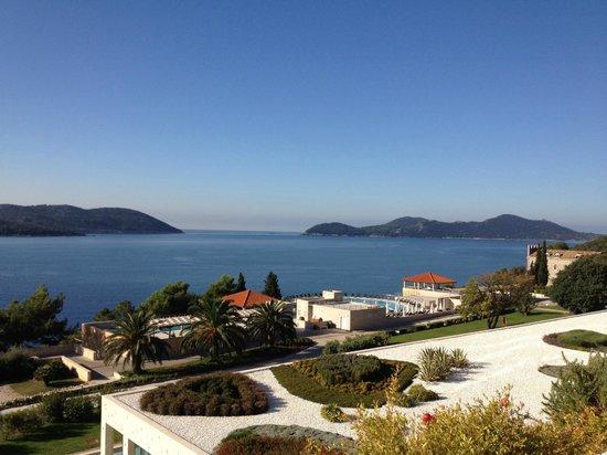 Sun Gardens Dubrovnik: view from breakfast area