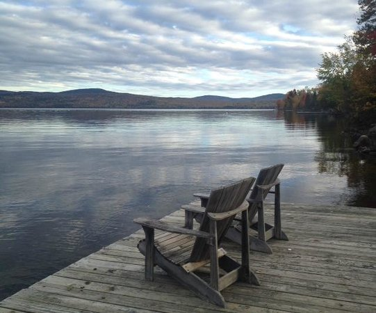 Hunter Cove Cabins on Rangeley Lake: View from the dock