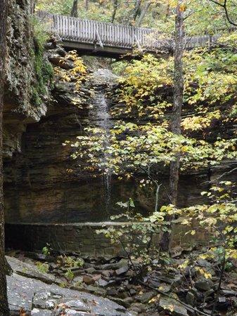 A waterfall - Picture of Heavener Runestone State Park ...