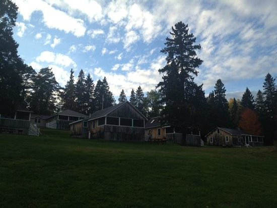 Hunter Cove Cabins on Rangeley Lake: View of the cabins