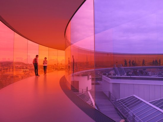 ARoS Aarhus Kunstmuseum : Rainnbow panorama