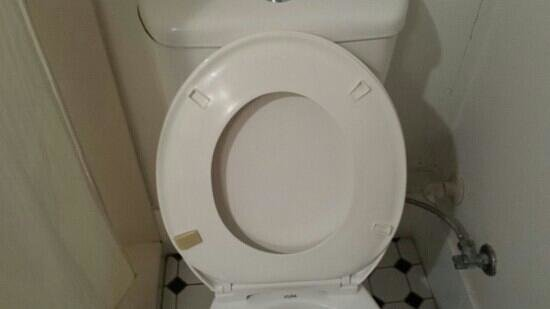 Rydges Southbank Townsville: toilet seat needs replacing.  only one rubber stop out of four on bottom of seat.