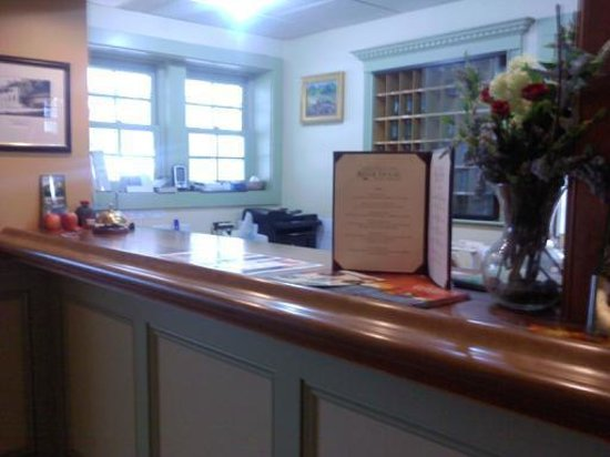 The Stowe Inn: Front Desk Area