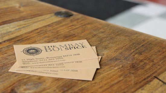 The Bombay Spice: Business Card