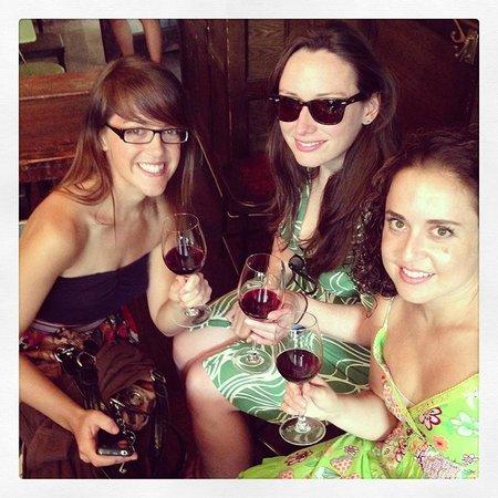 Like A Local Tours: Enjoying some wine on the I HEART BROOKLYN tour.