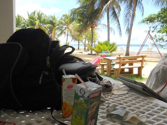 Jamelah Beach Guest House: vue au petit dej