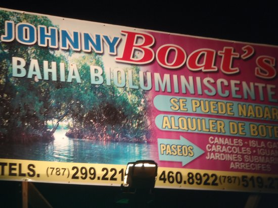 Phosphorescent Bay (Bahia Fosforescente) : Billboard with info