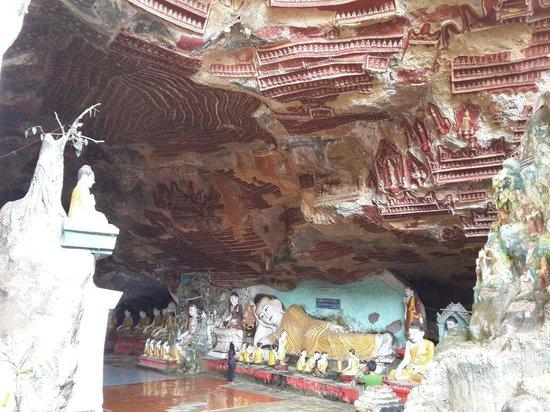 Santawshin Pagoda: Kaw-Goon Cave,(the inheritances of Mon nation)