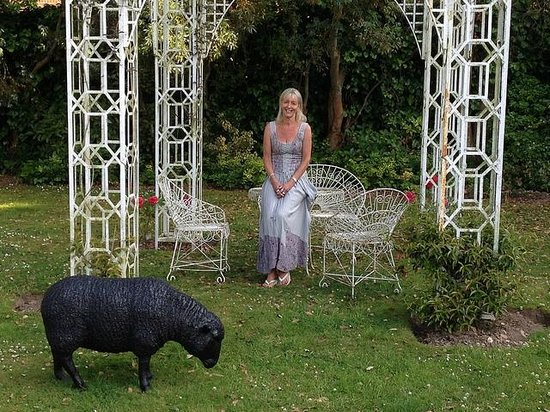 Angmering Manor : Me in The Rose Arbour - (sheep not real!)