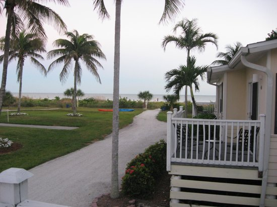 Seaside Inn: View from our cabin towards the Gulf
