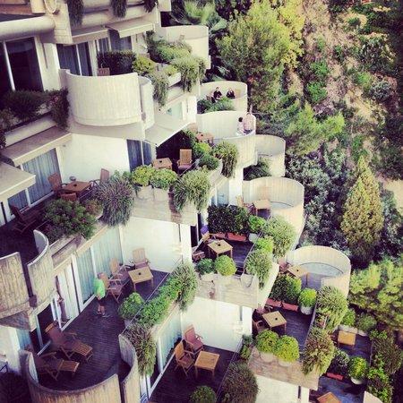 Monte Tauro Hotel: Balkongerna