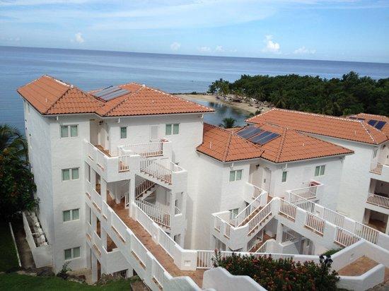 Windjammer Landing Villa Beach Resort: View from our Balcony