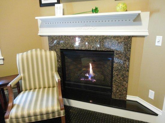 Captain's Manor Inn: Warm fireplace