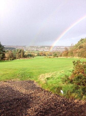 South Moor Golf Club: Rainbow over south moor