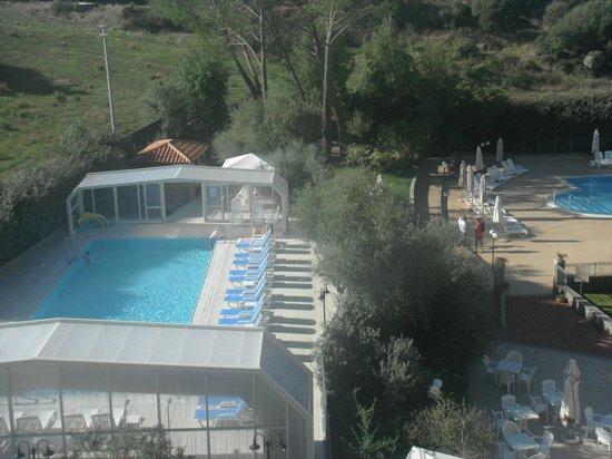 Terme Aurora: vista della piscina dalla mia stanza