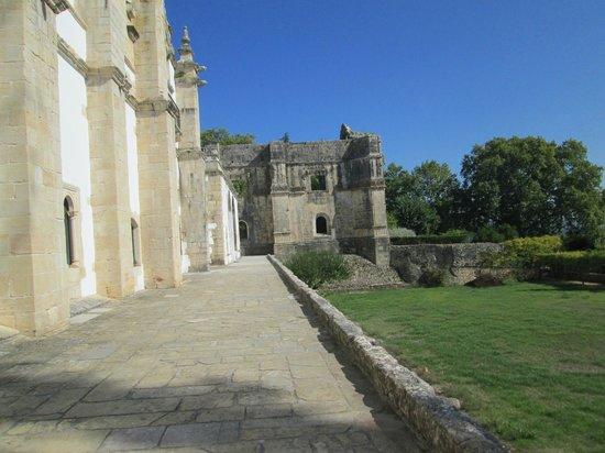 Castelo de Tomar: vista dei resti della chiesa gotica