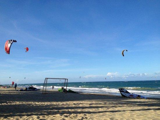 Viva Wyndham Tangerine : Kite Boarding at Cabarete beach