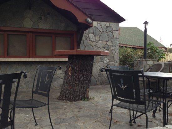 Switzerland Inn: Outside pub tables