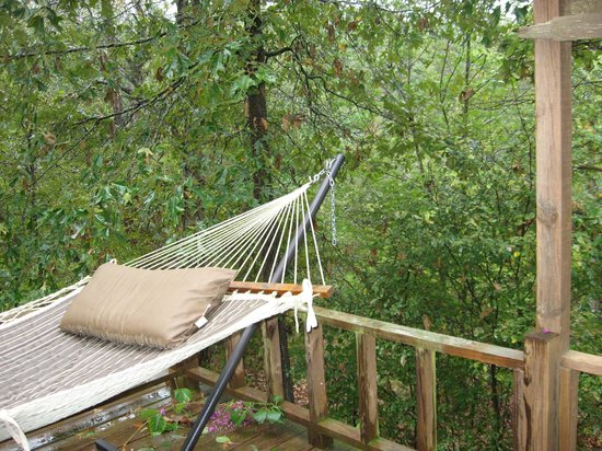 Medium image of beavers bend resort park  hammock on the deck