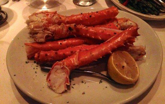 Fleming's Prime Steakhouse & Wine Bar: King crab legs