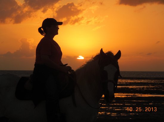 South Padre Island Adventure Park: Me and Whiskey at Sunset ~ Awesome RIDE !!! Loved it !!!