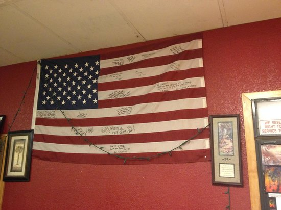 Middle East Restaurant : Signed before he left his home for the U.S.