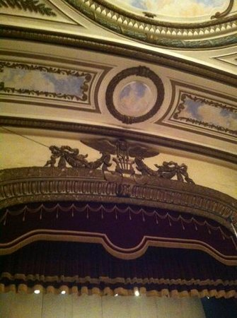Hanoi Opera House: Inside above the stage - not the French Emblem and 1911