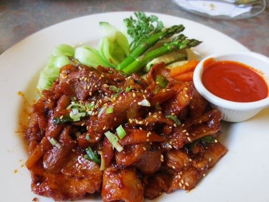 jae's asian bistro: Spicy Korean Pork at it's best