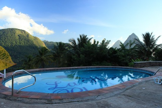 La Haut Resort : View from one of the two pools at La Haut