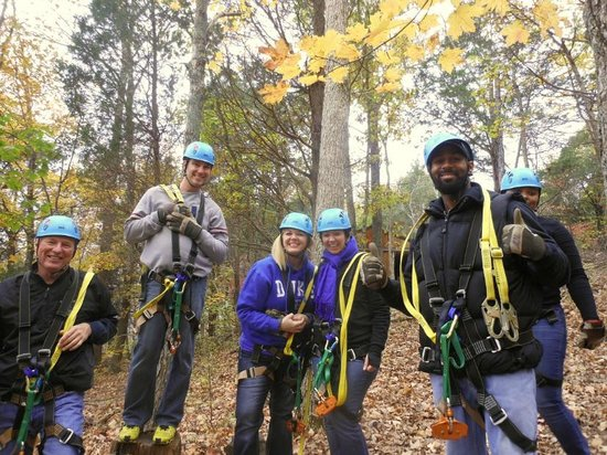 Squire Boone Caverns Zipline Adventures: Our fun group!