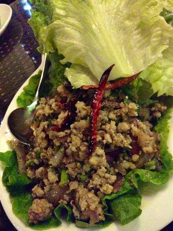 Minced pork lettuce wrap picture of ayutthaya thai for Ayutthaya thai cuisine bar