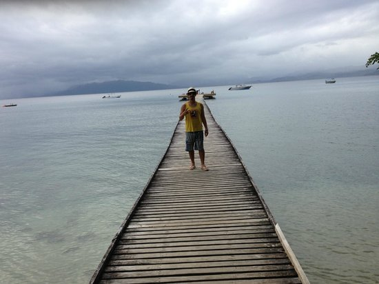 Jean-Michel Cousteau Resort : Me on the pier