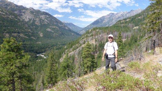 Stehekin Valley Ranch: View of Stehekin Valley from Rainbow Loop Trail.