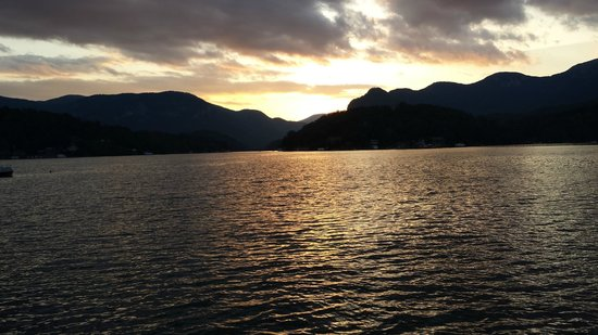 Arbor Cabins at Lake Lure: Sunset over Lake Lure, NC